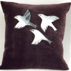 Finches - small cushion