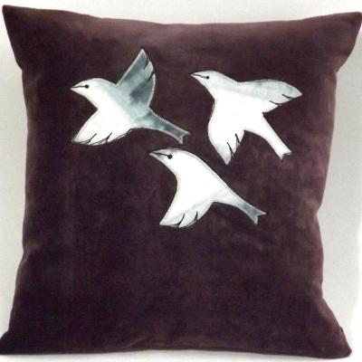 Finches - small cushion